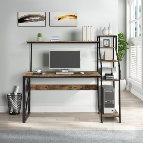 Writing Study Table With 5 Tier Bookshelves