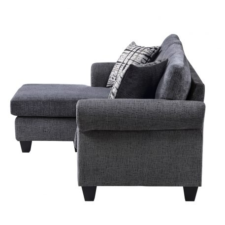 Convertible Sectional Sofa With Two Pillows