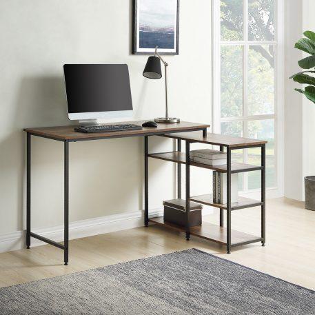 """47"""" Corner Desk With Open Shelves"""