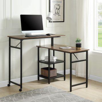360 Degrees Free Rotating Corner Computer Desk