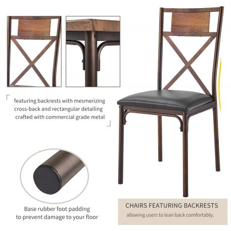 5-Piece Wooden Dining Table With Chairs