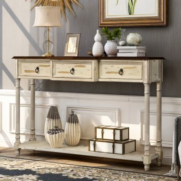 Console Table With Drawers Luxurious And Exquisite Design