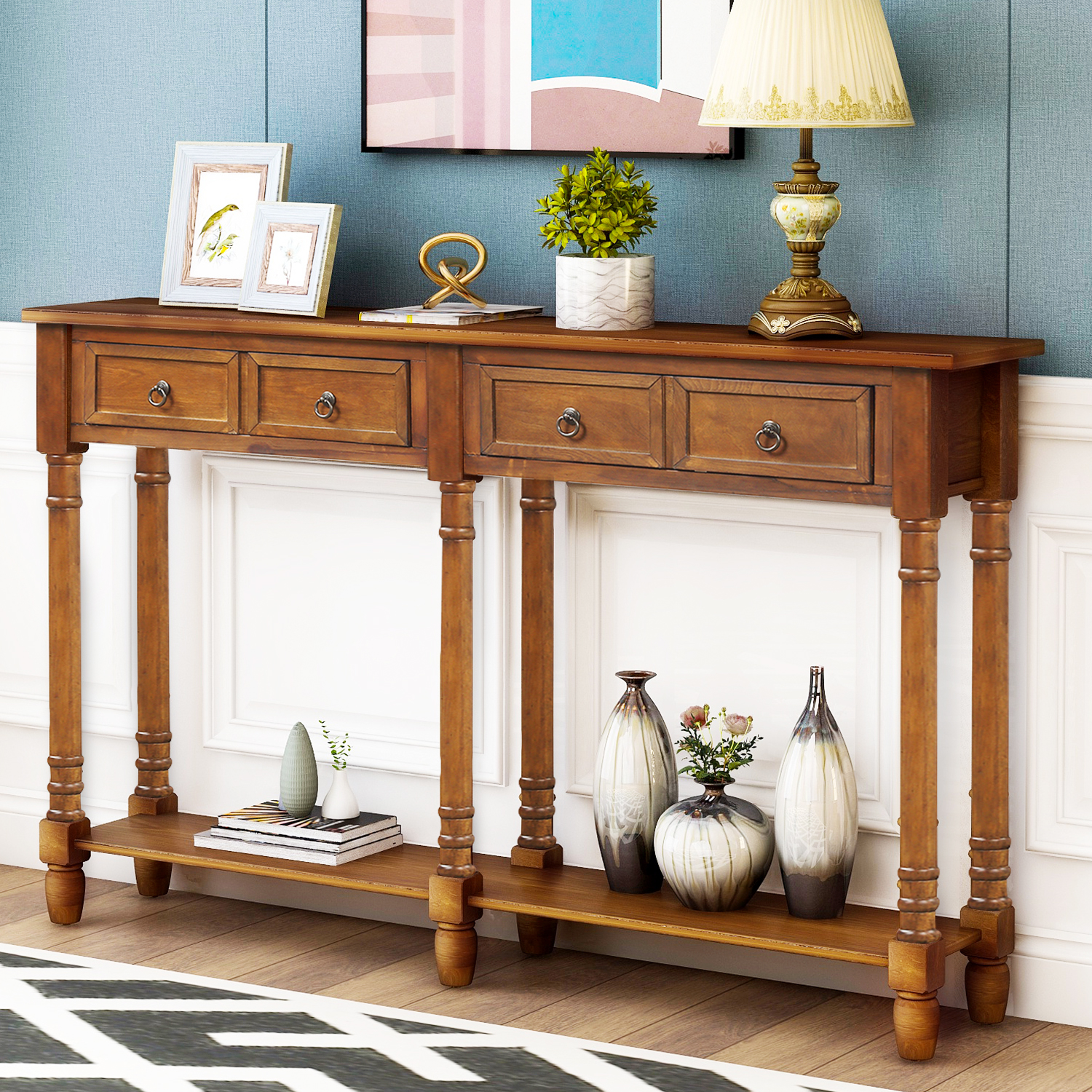 Console Table With Drawers For Entryway