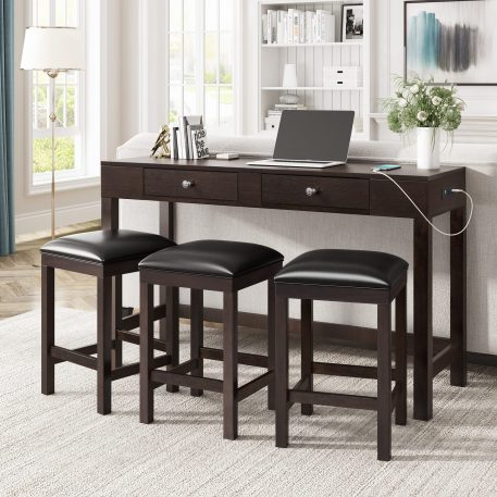 4-Piece Counter Height Table Set