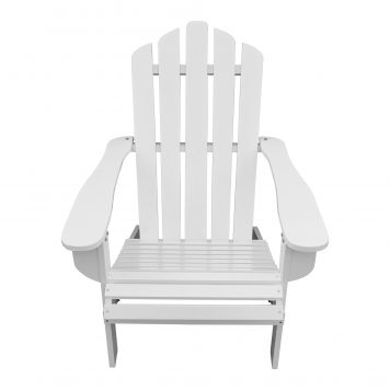 Wood Reclining Adirondack Chair White