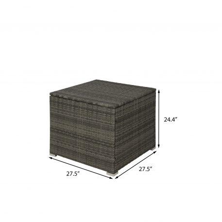 4-Piece Outdoor PE Rattan Wicker Sectional Sofa Set