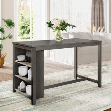 Counter Height Dining Room Wooden Bar Table