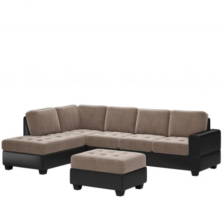 Convertible Sectional Sofa With Reversible Chaise