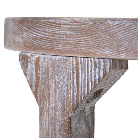 Round Rustic Coffee Table Solid Wood