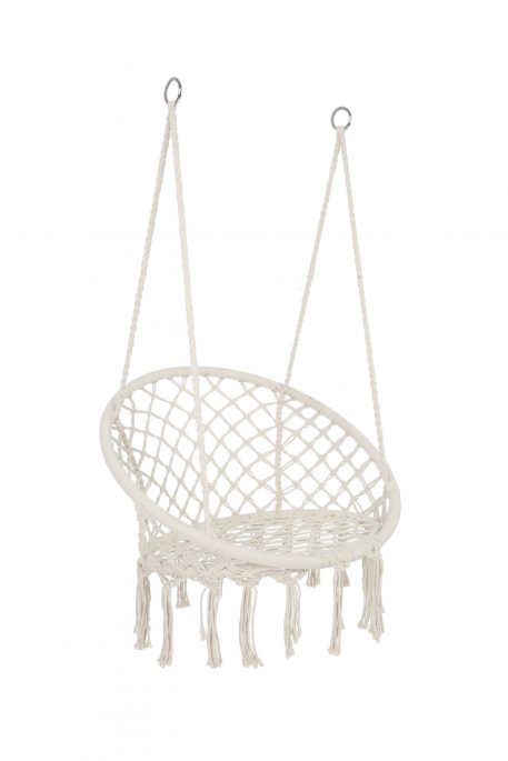Max 330 Lbs Hanging Cotton Rope Hammock Swing Chair