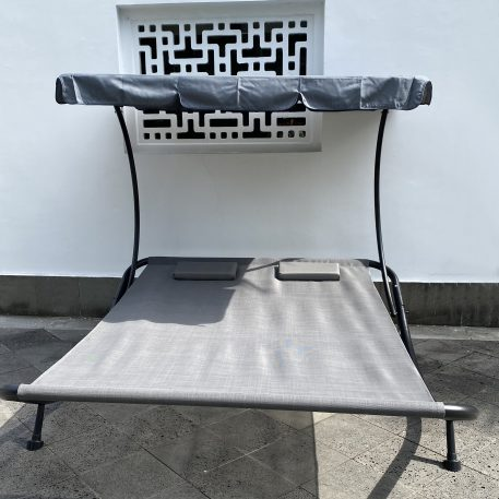 Outdoor Portable Double Chaise Lounge Hammock Bed