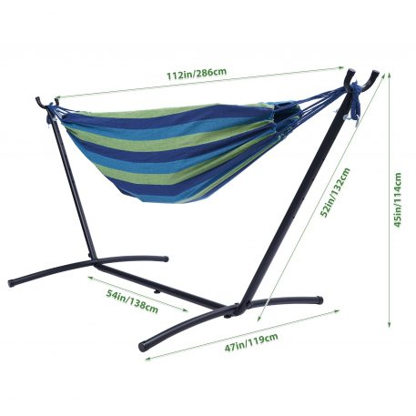 Double Classic Hammock With Stand For 2 Person