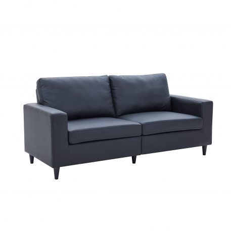 PU Leather Upholstered 3 Seat Sofa