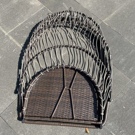 Rattan Swing Hammock Egg Chair With C Type Bracket , With Cushion And Pillow