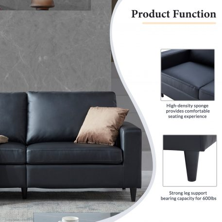 PU Leather Upholstered Sofa 2+3 Seat