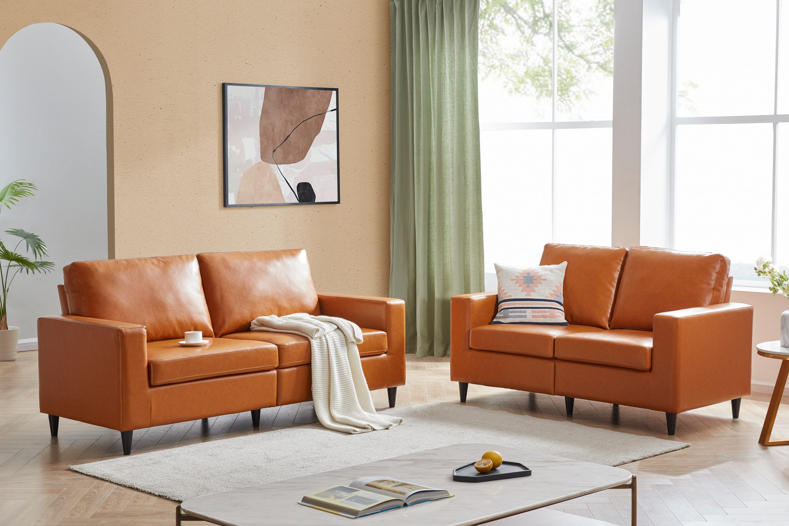 PU Leather Couch Furniture 2+3 Seat