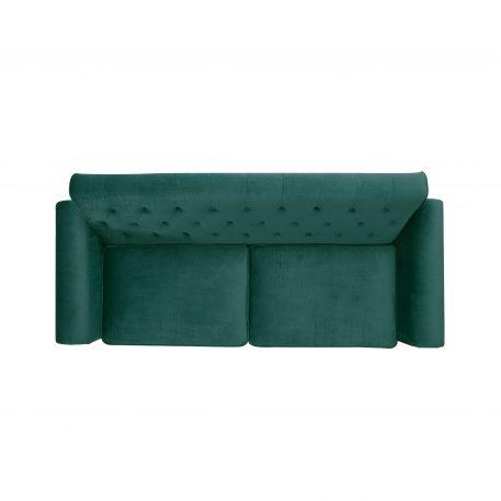 Mid-Century Upholstered Velvet Fabric Tufted Sofa