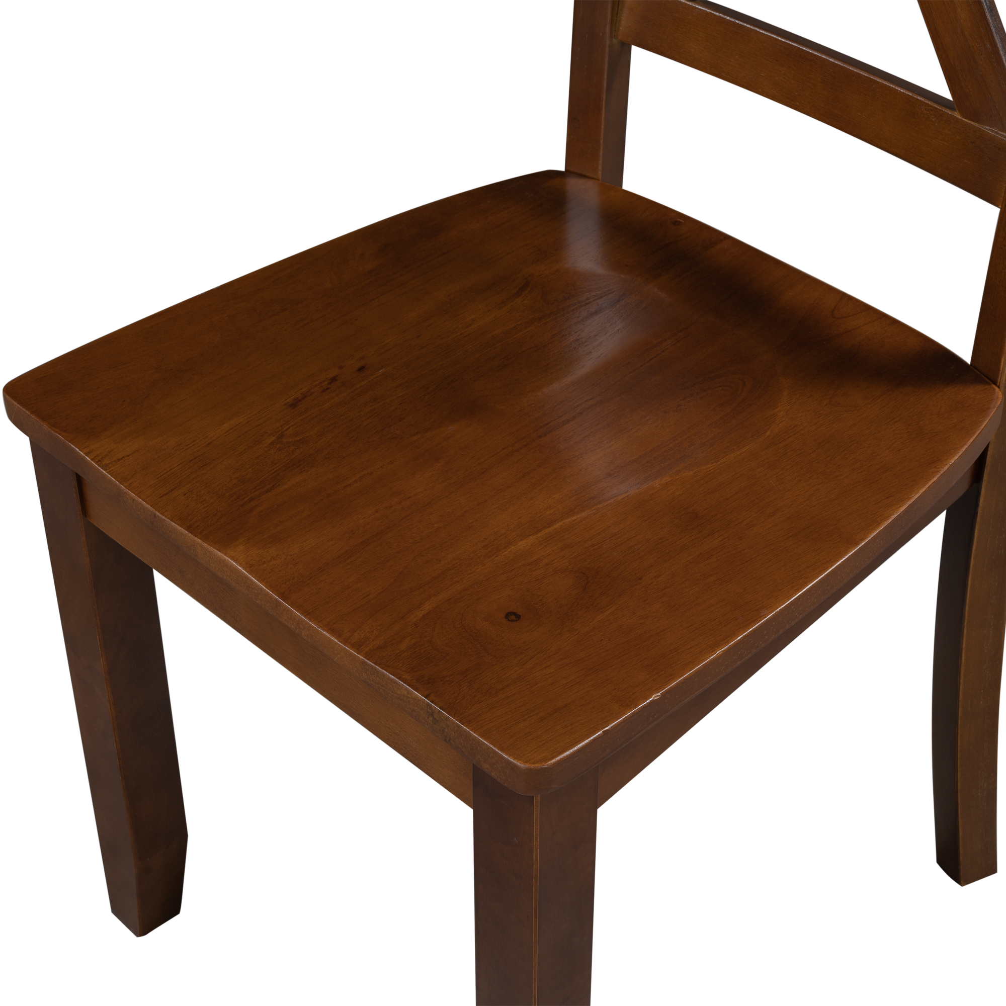 2-Piece X-back Wood Breakfast Nook Dining Chairs