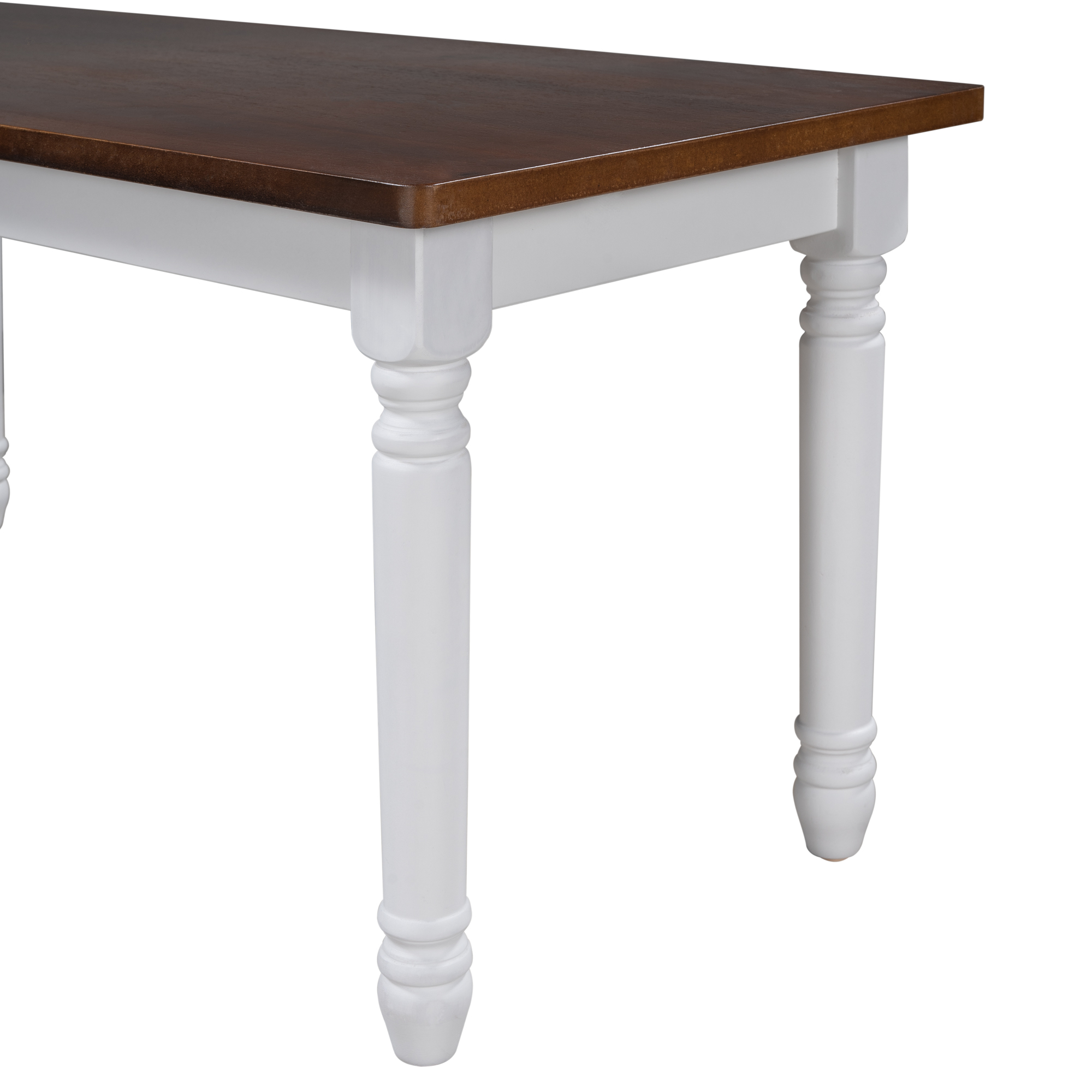 2-Piece Solid Wood Kitchen Dining Benches Set
