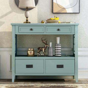 """36"""" Console Table With 4 Drawers And 1 Shelf"""