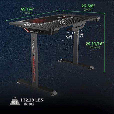 "43.3"" 1-S Computer Gaming Desk"