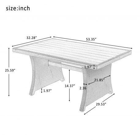 4-Piece Conversation Set,  Black Wicker Sofa Set with Dark Grey Cushions
