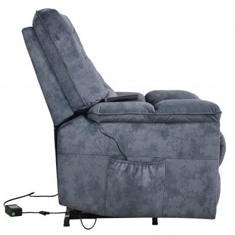 Power Lift Chair Soft Velvet Upholstery Recliner, Blue