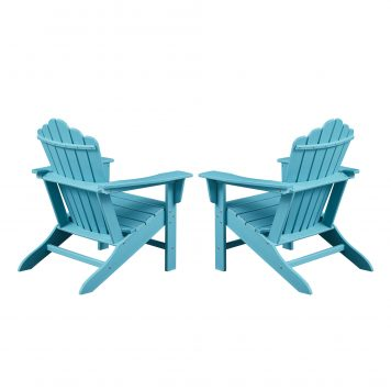 Plastic Classic Outdoor Adirondack Chair, Set of 2
