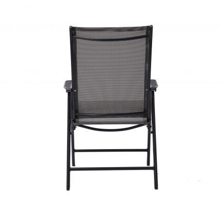 Patio Folding Chairs Set of 4, Gray