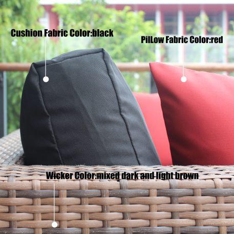 5 Pieces Wicker Coversation Sofa Set