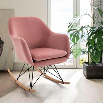 Modern Fabric Rocking Chair