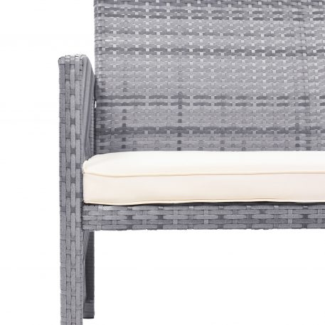 4 Pieces Outdoor Rattan Chair & Table Patio Set