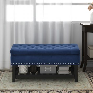 Entryway Bench with Rubber wood Legs