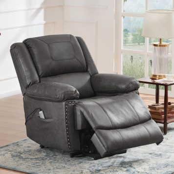 Power Lift Chair With Adjustable Massage Function, Recliner Chair With Heating System For Living Room