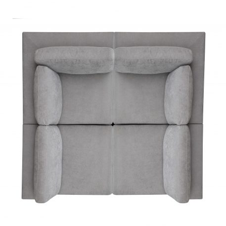 Modular Customizable and Reconfigurable Deep Seating with Removable Ottoman (4-Seat+Ottoman)