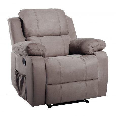 Suede Heated Massage Recliner Sofa Chair